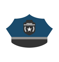 Police hat elements of the police equipment icons vector