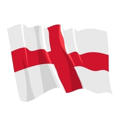 political waving flag of england vector image