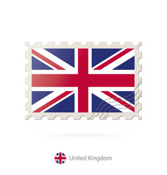 Postage stamp with image united kingdom vector
