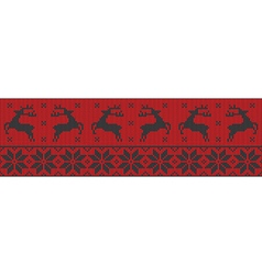 Red and black christmas jumper vector