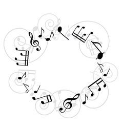 round music frame vector image