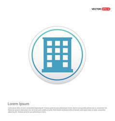 School building icon - white circle button vector