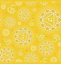 Seamless pattern with manipura chakra vector