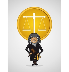 Service judge man cartoon Justice symbol vector image vector image