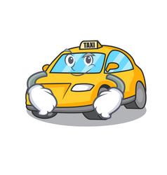 Smirking taxi character cartoon style vector