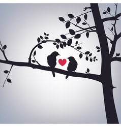 Spring Birds on a Tree vector image