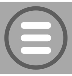 Stack flat dark gray and white colors rounded vector