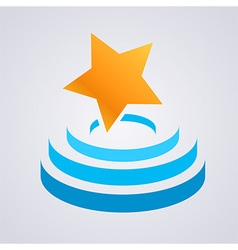 Star Stage icon vector
