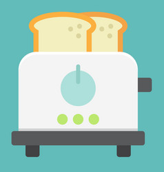 toaster flat icon kitchen and appliance vector image