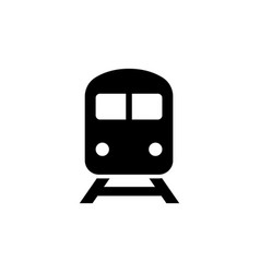 train icon in flat style vector image