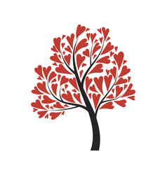 tree with hearts for day vector image
