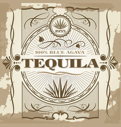 Vintage tequila poster design vector