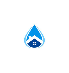Water house supply logo vector