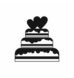 Wedding cake icon simple style vector image