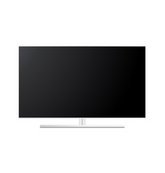white wide tv screen mockup front view vector image