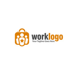 Work leadership agency logo vector