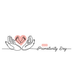 World prematurity day simple banner vector