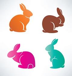 Bunny silhouette collection vector