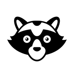 Raccoon Head Logo Style Icon vector image vector image