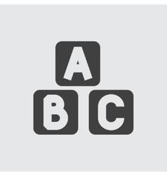 A B C block icon vector image