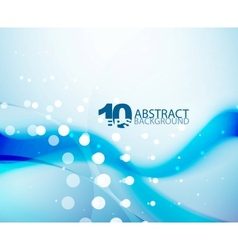 Blue wave background vector image vector image