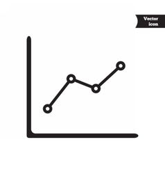 Business progress chart vector image vector image