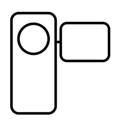 camcorder thin line icon pictogram vector image