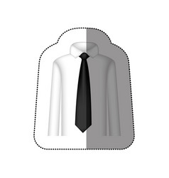 color tie with shirt icon vector image