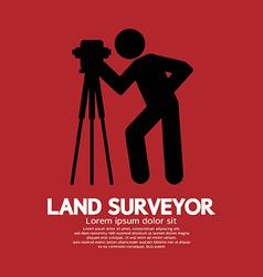 Land surveyor black graphic symbol vector