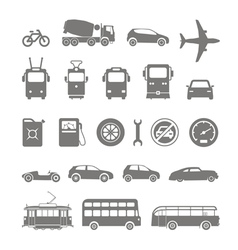 transport silhouettes vector image vector image