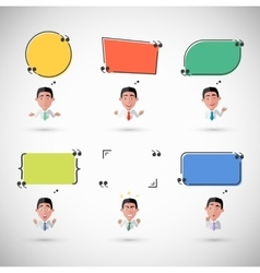 Variety of Emotions Man with Speech Bubble vector image