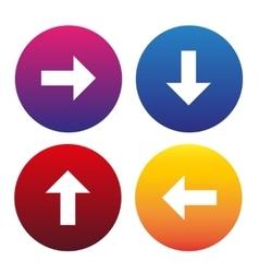 Arrow sign icon set vector image