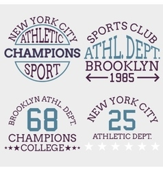 athletic nyc logo typography t-shirt graphics vector image