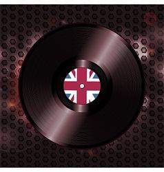 British vinyl record on metallic honeycomb vector image vector image
