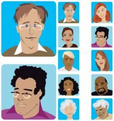 face set vector image