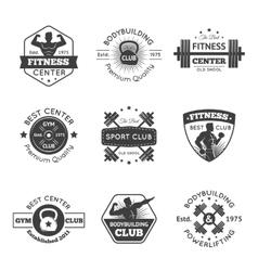 Fitness Gym Emblems Set vector image