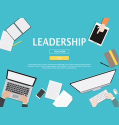 leadership graphic for business concept vector image vector image