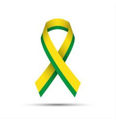 modern yellow green ribbon vector image