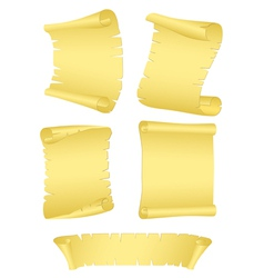 roll old paper vector image vector image