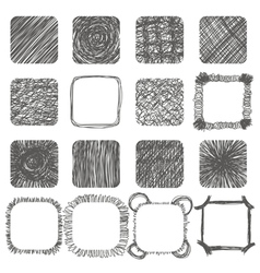 Set of hand drawn scribble shapes design elements vector image vector image
