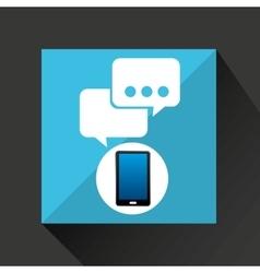 Smartphone bubble chat social network media icon vector