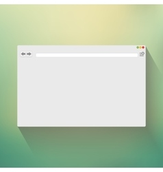 Blank window of internet browser vector image