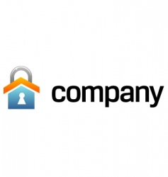 house security logo vector image