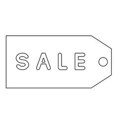 label sale the black color icon vector image