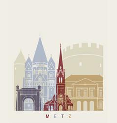 metz skyline poster vector image