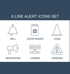 6 alert icons vector