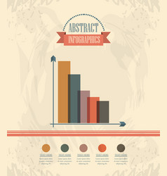 abstract infographics with bars sketches vector image