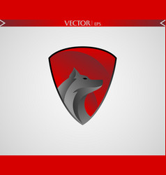 abstract wolf logo vector image