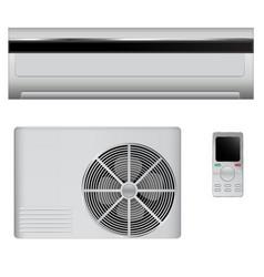 Air conditioner set vector