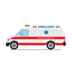 Ambulance car medical service vector